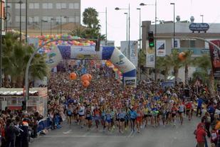 Fra en tidligere utgave av Santa Pola halvmaraton (Foto: mitjasantapola.com)