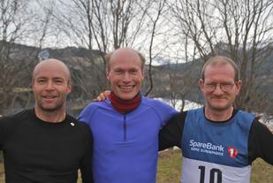 Tre beste. Fra venstre Bjørn Ole Vassbotn, Jan Ketil Vinnes og Are Uran. Foto: Martin Hauge-Nilsen