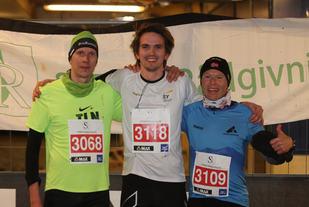 Topp 3 herrer 5 km, Tit Oinus, Fredrik Torgersen og Frode Johansen