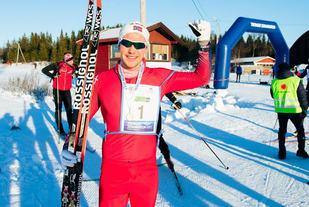 Runar Hermo, Hammerfest Skiklubb kan triumfere i årets Tromsø Skimaraton. Foto: Arrangøren