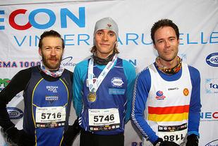 Premiepallen 10 km løp 5, Henrik Angermund, Jens Åstveit, Are Opstad Sæbø. / Foto :Arne Dag Myking