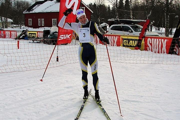 Dalsbygdingen Karstein Johaug jr., Gran IL/Team Hadeland umiddelbart etter å ha forbedret Stian Remseth Andresens rekord i løypa med nesten ti minutter (Foto: Frank Bjørseth)