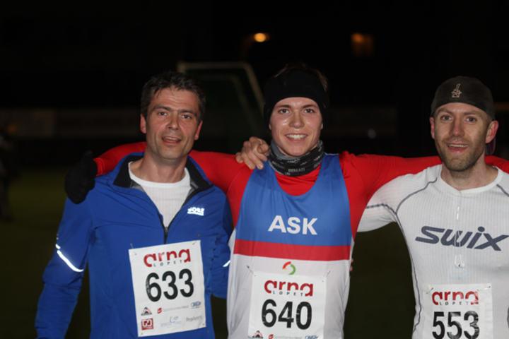 Topp 3 herrer på dagens løp, Rune Gullachsen, Marius Garmann Sørli og Espen Irgens Haugen