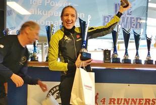 Guro Skjeggerud jubler for seier, pers og oppnådd VM-krav i Espoo (foto: Stig Andy Kvalheim).