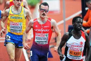 Henrik Ingebrigtsen tok seg greit til finalen på 3000 m. Med seg i finalen får han også Jonas Leanderson og Ali Kaya. (Foto: Mark Shearman)