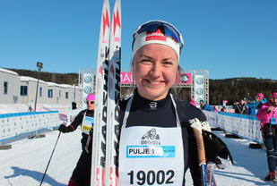 Marthe Bjørnsgaard vant 15 km i Ingalåmi med solid margin.