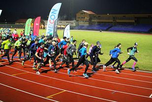 Starten er akkurat gått på 5 km i sesongens 7. løp