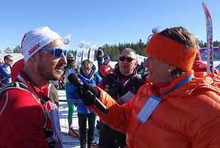Kronprins Haakon var raskere enn sin danske kollega, Kronprins Frederik, også i år .