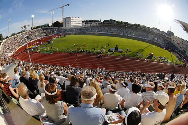 Bislett Stadion under Bislett Games 2007. Foto: Bjørn Johannessen