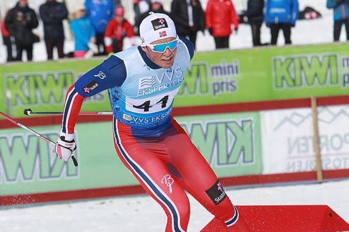 Emil Iversen i aksjon under NM del 2 på Beitostølen i 20106. (Foto: Kjell Vigestad)