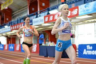 Finske Laura Manninen fikk hard konkurranse fra amerikanske Kate Pallardy, men Manninen var den som endte opp med verdensrekorden. (Foto: arrangøren)