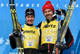 Tord Asle Gjerdalen, Santander vant sin første Ski Classic mens Britta Johansson Norgren gjentok seieren fra ifjor. Foto: Arrangøren