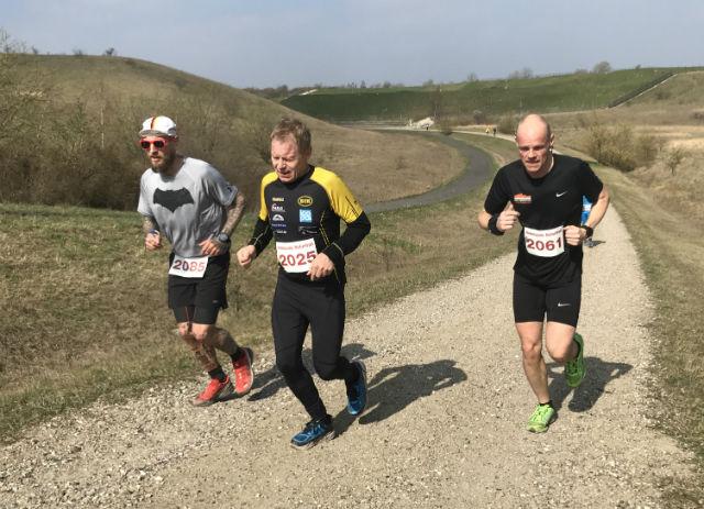 Jan Hetland(2025) fra EIK friidrett blir beste nordmann på halvmaraton.   Foto: Thomas Hetland.
