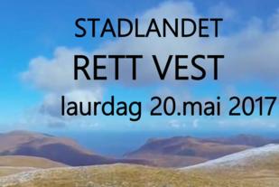 Invitasjon til Stadlandet Rett Vest 2017.