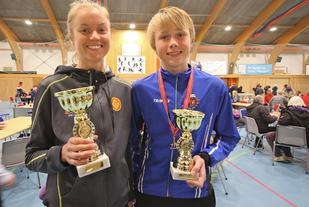 Ingrid Festø og Håkon Stavik raskest rundt Valderøya. Foto: Martin Hauge-Nilsen