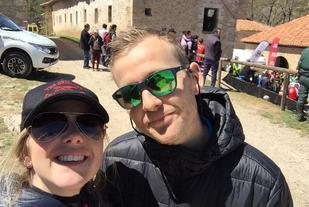 Didrik Hermansen sammen med kona Ida Jordhøy depper ikke alt for mye selv om Didrik måtte gi deg i dagens løp. (Foto fra Didrik's facebookside)