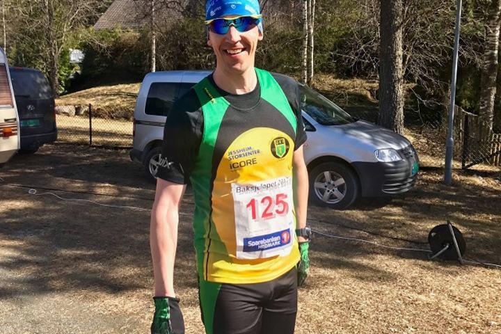 Kristian Monsen vant Baksjøløpet for andre gang. (Foto: TV Kongsvinger )