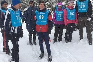 Det var vinterlig forhold under mandagens løp også på Velta. (Foto: Gunn Helen Kjensmo)