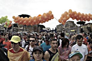 Før start i årets Roma Marathon