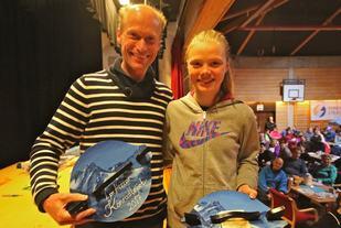 Vinnerne av Konradløpet 2017, Jan Ketil Vinnes og Kristine Hjellbakk Hole. Foto: Martin Hauge-Nilsen