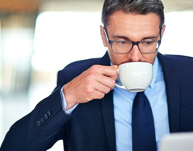 Kaffe på jobben som smaker godt