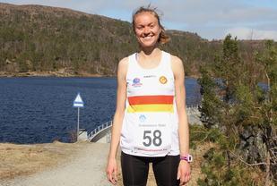 Ingrid Festø vant årets utgave av Eikenosa Opp i Ålesund. Ingrid er fra Volda, representerer IL Gular, men bor nå på Valderøya