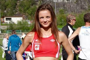 2016 løpet. Live Solheimdal ledet kvinneklassen i fra start til mål. Foto: Helge Fuglseth