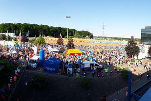 Fra startområdet i årets Ing Night Marathon Luxemburg (Arrangørfoto).