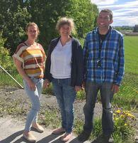 I midten står avdelingsleder for rus- og psykiatritjenesten Eli Merethe Nesset, og hun har med seg Espen Stordal og Linda Foss som er den operative delen av mestringsteamet.