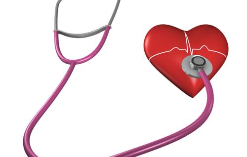 Bilde hjerte og stetoskop