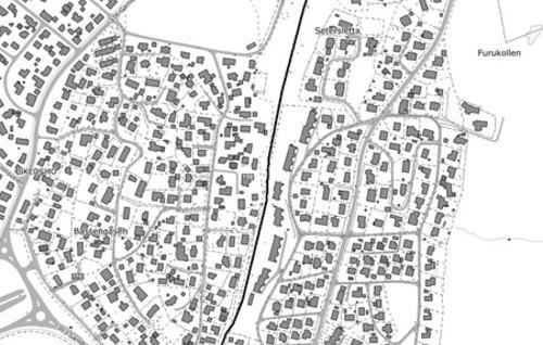 Kart Øvre Rælingsveg