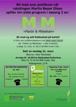Plakat Martin & Mikkelsen - bli med som publikum 21.mars-1600 fra Rakkestad.PDF