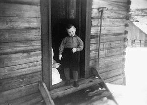 Arvid Hanssen tre år gammel