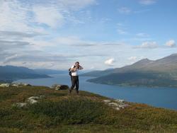 Utsikt fra Storåsen mot Balsfjorden