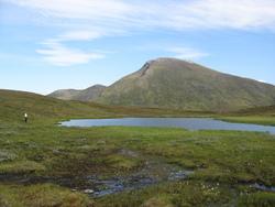 Fuggetind sett fra fjellvann på Storåsen