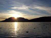 Solnedgang over Rolløya