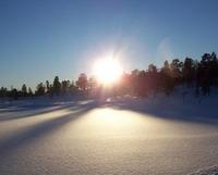 Solnedgang ved Skoddeberg