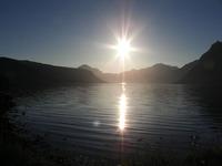 Kveldsstemning ut Lavangsfjorden