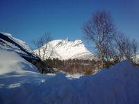 Utsikt mot Novatinden fra Vassbotn