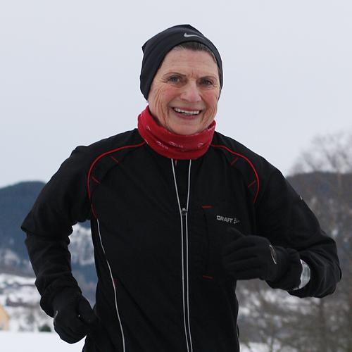 Vera Nystad satte ny norsk aldersrekord i Maratonkarusellen i Bergen 23.januar 2010