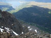 På toppen av Spanstind med utsikt mot Spansdalen