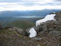 Utsikt mot Lavangen fra Årsteinhornet