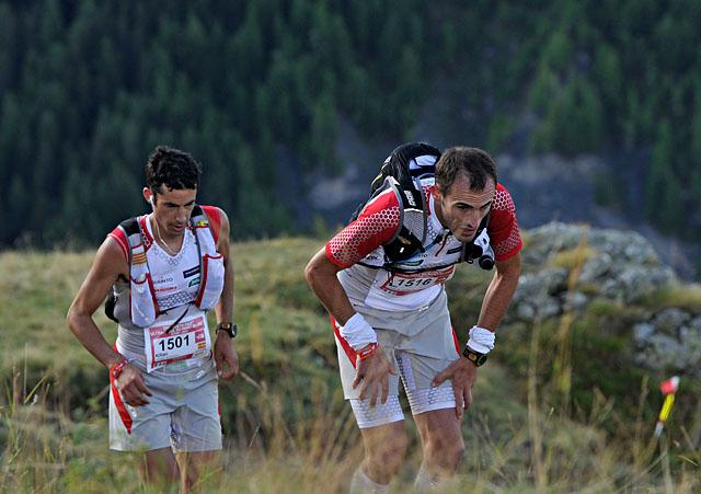 26/08/2011- Refuge Bertone (ITA)JORNET BURGADAKilian (SPA) et KARRERA ARANBURU Iker (SPA)© The North Face® Ultra-Trail du Mont-Blanc®-Pascal Tournaire