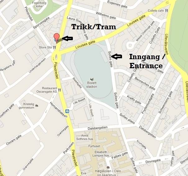 bislett kart Det nærmer seg 24 timers fest på Bislett   KONDIS   norsk  bislett kart