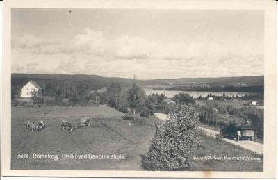 Utsikt ved Sandum skole