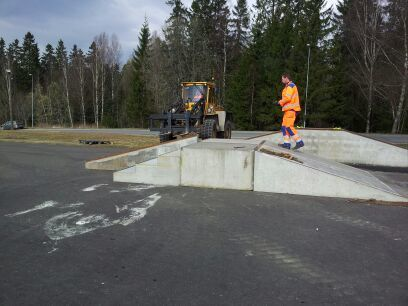 Montering skatepark 2012