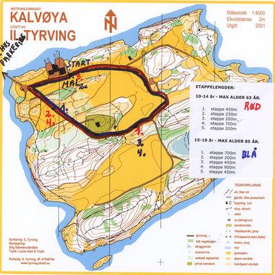 kalvøya kart Tyrvingstafetten på Kalvøya søndag   KONDIS   norsk organisasjon  kalvøya kart