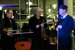 Ola Mosafinn minnekonsert Voss spelemannslag hardingfele konsert biblioteket kulturhus. Leif Rygg, Knut Hamre, Øystein Velure