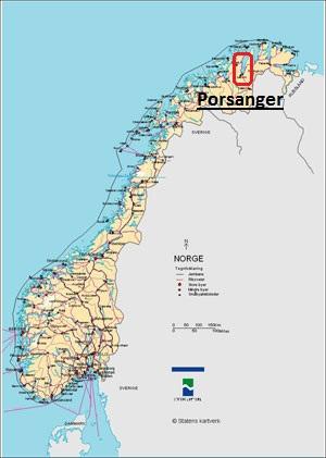 kart over porsanger Geografi   Porsanger kommune kart over porsanger