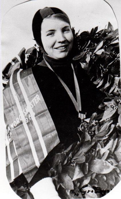 Sigrid Sundby Norgesnester på skøyter 1966